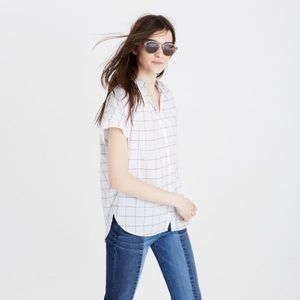 Madewell Central Buttondown in Windowpane